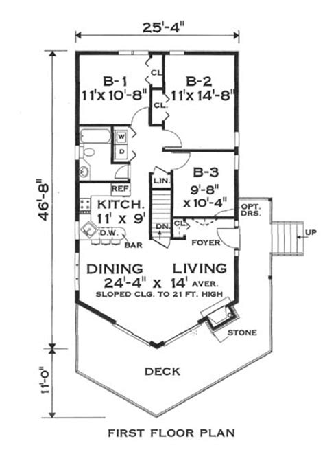 great chalet 5797 3 bedrooms and 1 5 baths the house designers