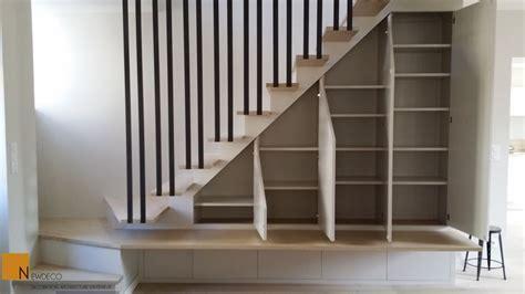escalier sur mesure garde corps placard sous escalier