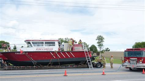 Vancouver Fire Boat 1 by Scugog Firefighters Douse Electrical Blaze In Rescue Boat