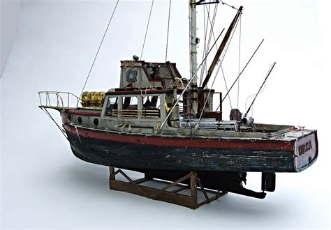 Fishing Boat Models For Sale by Jaws Orca Wooden Model Boat Wood Lobster Fishing Trawler