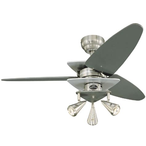 shop harbor 42 in vector brushed nickel ceiling fan at lowes