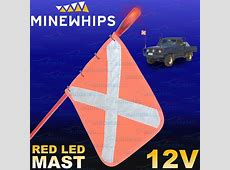 MINE WHIP 1 PIECE 12 METRE LED LIGHT SAFETY SAND DUNE
