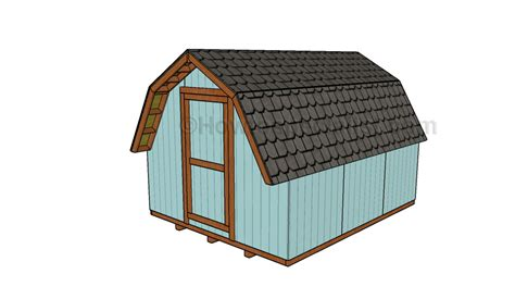 10x12 barn shed plans howtospecialist how to build