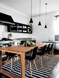 black and white kitchen 33 Inspired Black and White Kitchen Designs - Decoholic