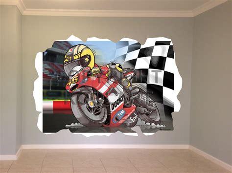 koolart ducati v moto gp wall sticker poster mural 3047 ebay