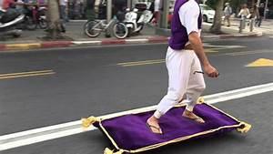 Guy Rides Magic Carpet down Street - YouTube