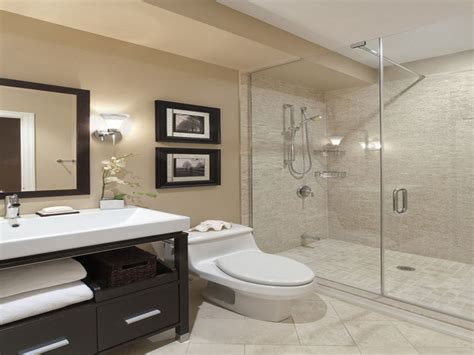 Attractive Modern Bathroom Design Ideas With Beige Wall