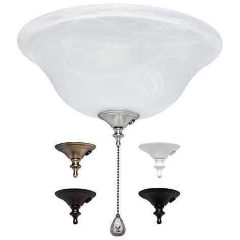 shop harbor 3 light alabaster incandescent ceiling fan light kit with alabaster shade at