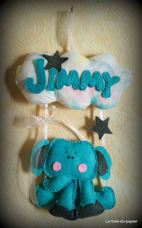 mobile elephant prenom decoration plaque porte enfant bebe garcon idee cadeau naissance deco