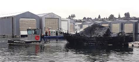 Everett Fire Boat by Both Boats And Boathouses Damaged In Monday Morning Fire