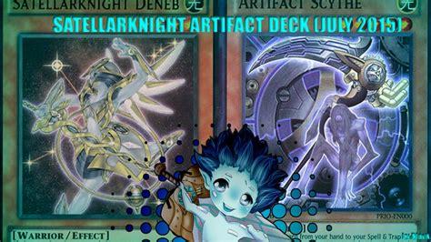 yugioh satellarknight artifact deck profile july 2015