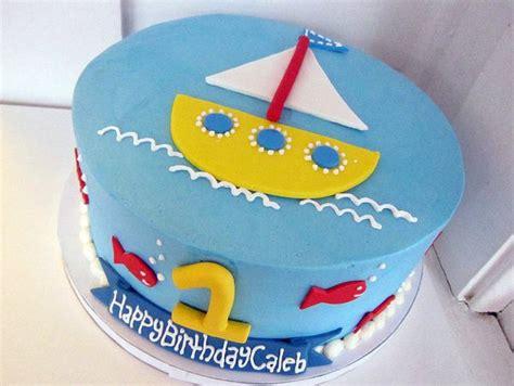 one year birthday cake and sailing theme birthday cake for one year