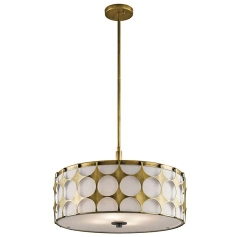 kichler 43276nbr charles modern brass drum drop ceiling light fixture kic 43276nbr