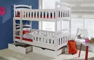 lit enfant superpos en bois 2 places avec 2 tiroirs de rangement