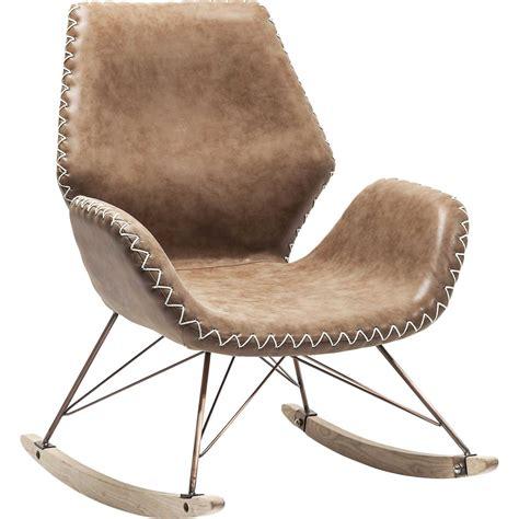 fauteuil a bascule vintage marron florida kare design