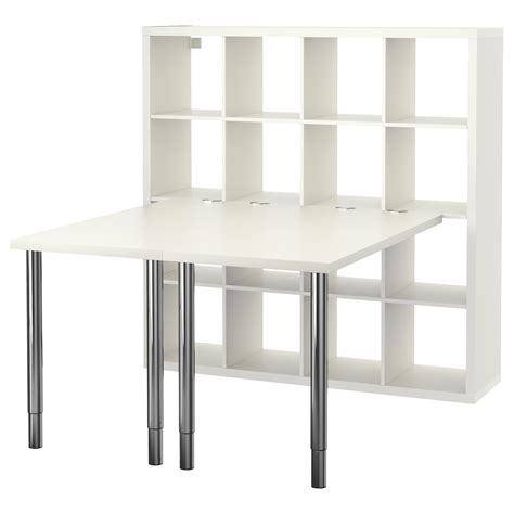 Kallax Desk Combination White 147 X 147 Cm  Ikea. Small Round End Tables. U Shape Office Desk. Computer Desk With Drawers. Picnic Table Frame Kit. Workstation Table. Queen Size Bed Frame With Drawers. Parker Student Desk. Yellow Chest Of Drawers