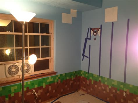 minecraft themed bedroom minecraft room 08 images frompo
