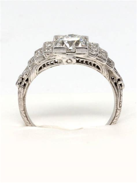 1920s deco platinum and engagement ring at 1stdibs