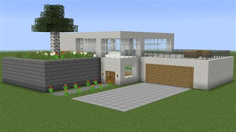 Minecraft  How To Build A Modern House 4 Youtube