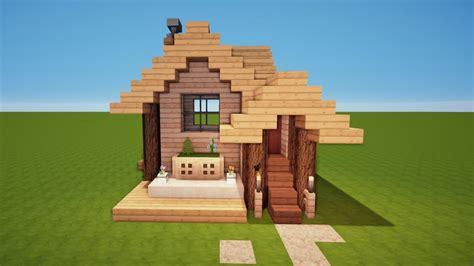 Kleines Minecraft Holzhaus Bauen Tutorial [haus 68] Youtube