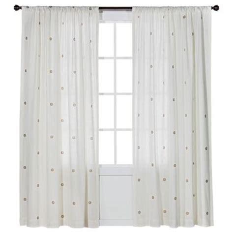 metallic curtain panel nate berkus circles metallic
