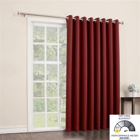 sun zero easton blackout patio door curtain
