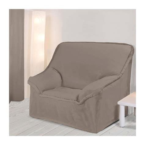 housse fauteuil unie taupe