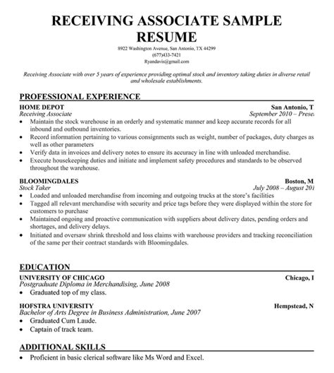 Shipping Receiving Clerk Resume Annecarolynbird