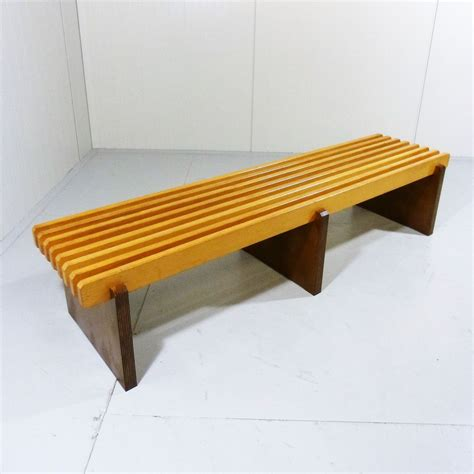 Beech Lath Bench, 1960s For Sale At Pamono
