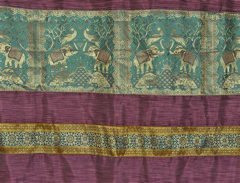 indian curtain fabric silk elephant jacquard living room