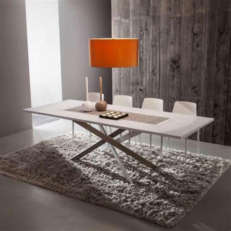 table de salle 224 manger design extensible en fenix renzo