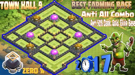 Th9 Best Farming Base 2017 Town Hall 9 Anti Gold, Dark, Elixir Base New Update Clash Of Clans