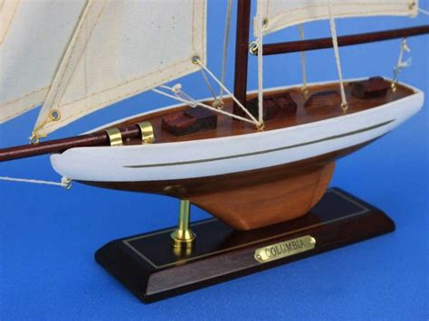 Toy Boat Decoration by Buy Wooden Columbia Model Sailboat Decoration 16 Inch