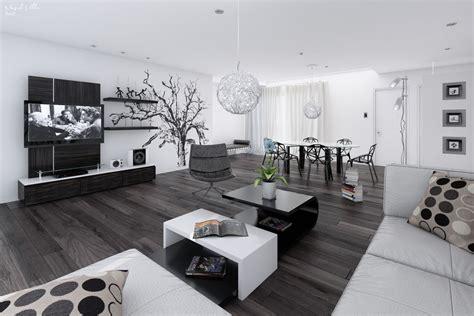 14 black and white living dining room interior design ideas