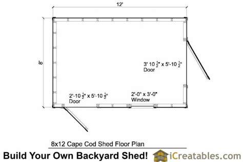 8x12 cape cod shed plans storage shed plans