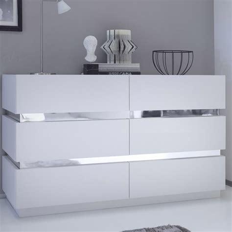 commode design laqu 233 blanc et chrome accrodesign
