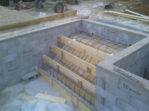 ferraillage escalier piscine construction piscine escalier piscine piscines et