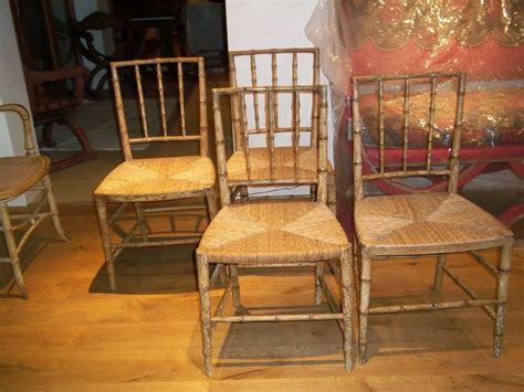 A Pair Of Original Painted Bamboo Chairs Antique Bedroom Dressers And Chests Cushion Cut Diamond Ring Uk Flower Shaped Upholstered Dining Chairs Cane Back Rocking Chair White Chalk Painted Furniture Display Case Kijiji Dealers St Louis Mo