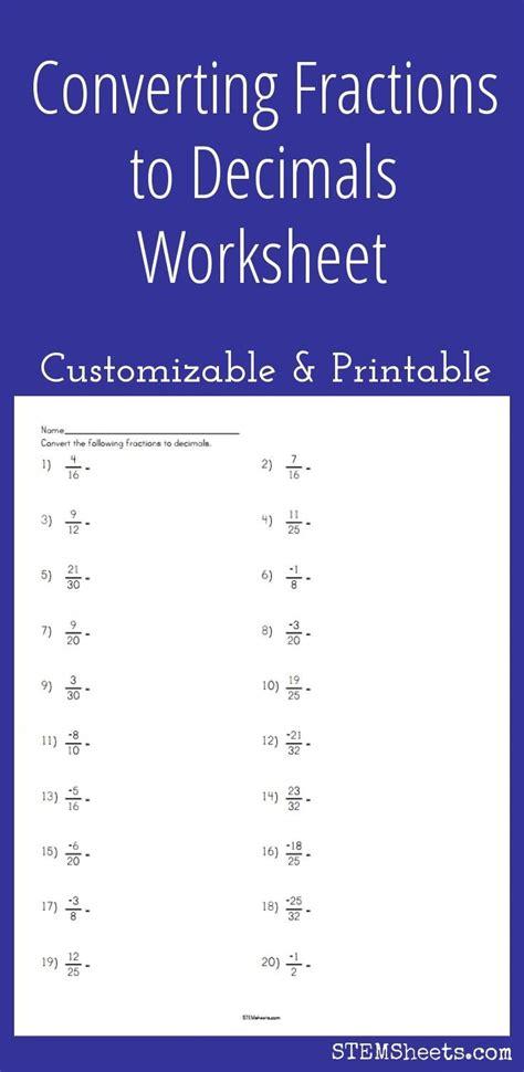 De 25+ Bedste Idéer Inden For Decimals Worksheets På Pinterest  Brøker Og 5 Klasses Matematik