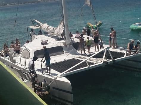 Catamaran Tour Jamaica Negril by Private Catamaran Negril Sail Snorkel Reggae Party