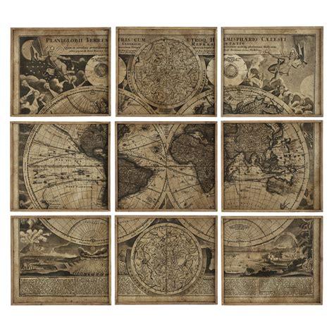 9 cadres mappemonde 189 x 213 atlas maisons du monde