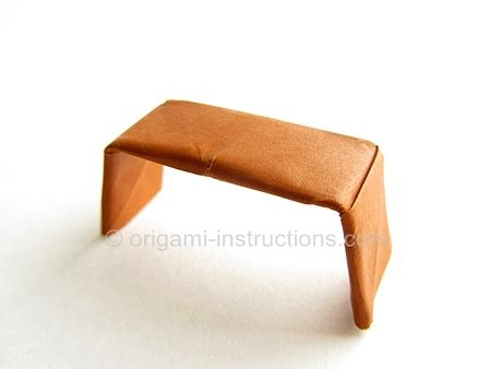 Easy Origami Bench Folding Instructions