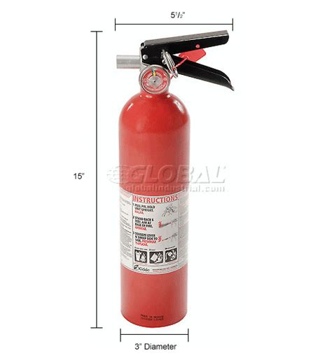 extinguisher mounting height