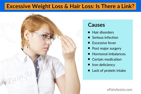 excessive weight loss hair loss is there a link