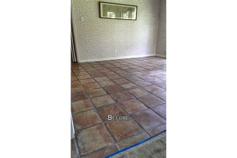 saltillo floor cleaning before after photos
