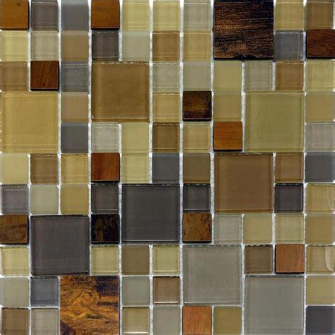 Sample Copper Insert Pattern Glass Mosaic Tile Kitchen
