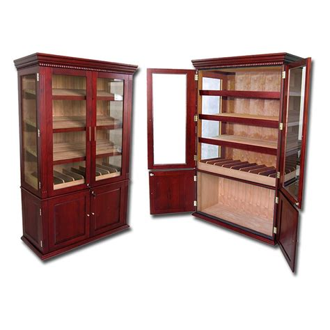 large cabinet humidor cigar furniture