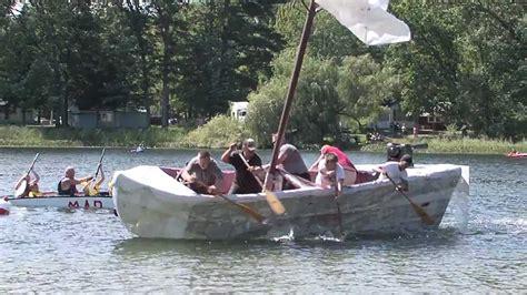 Cardboard Boat Videos by 2012 Cardboard Boat Race Brethren Michigan Youtube
