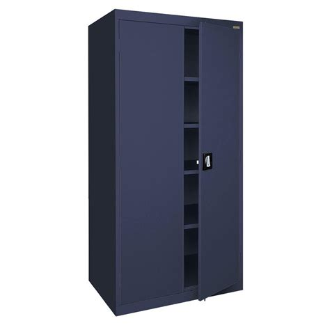 sandusky elite series 72 in h x 46 in w x 24 in d 5 shelf steel recessed handle storage