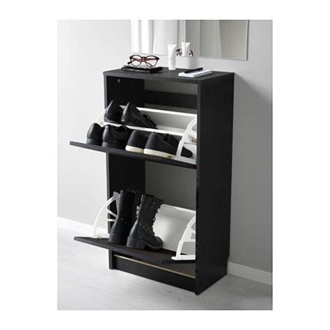 bissa shoe cabinet 2 compartment brown black furniture source philippines